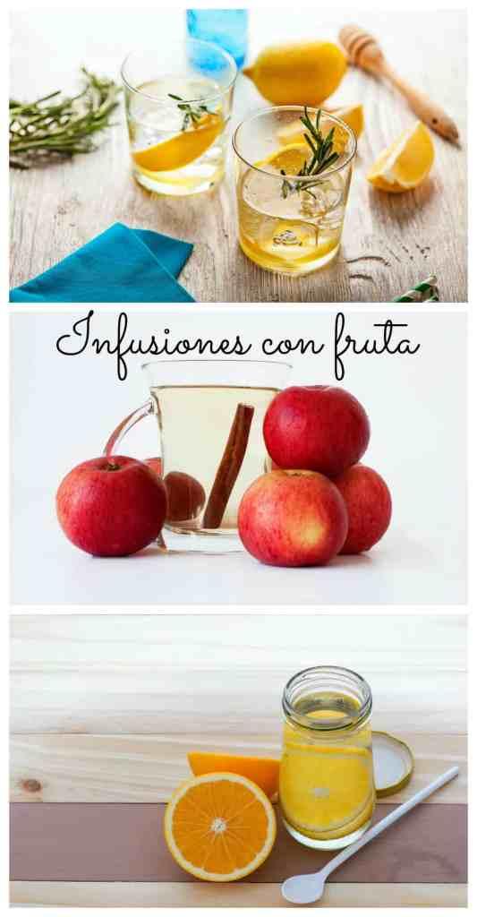 Infusiones de agua con fruta