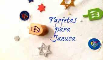 Tarjetas para Januca que puedes imprimir gratis