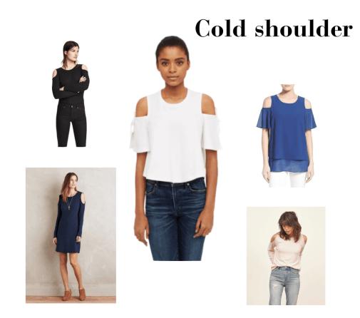 Cold shoulder escote en hombros