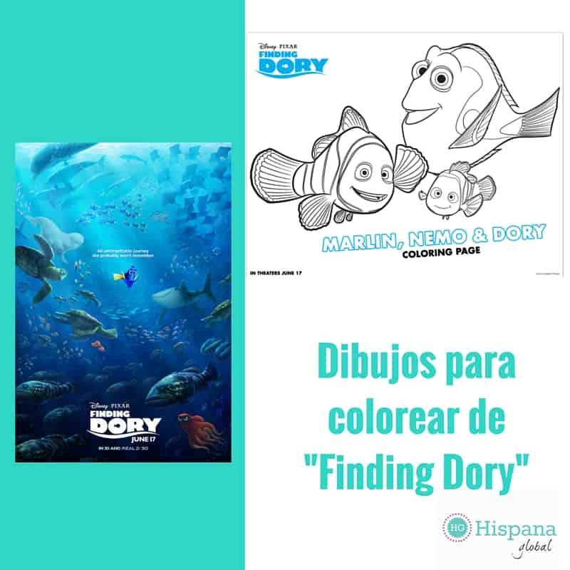 Figuras para colorear de la nueva película Finding Dory