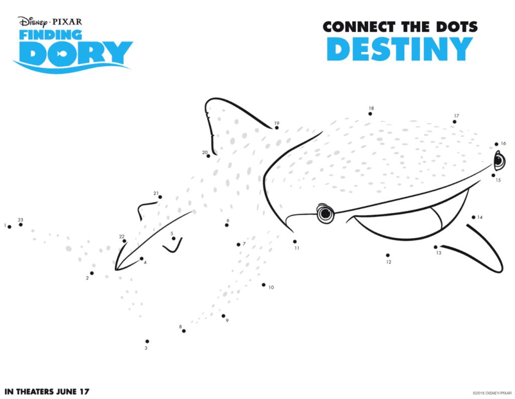 Juegos de unir los puntos de Finding Dory o Buscando a Dory ...