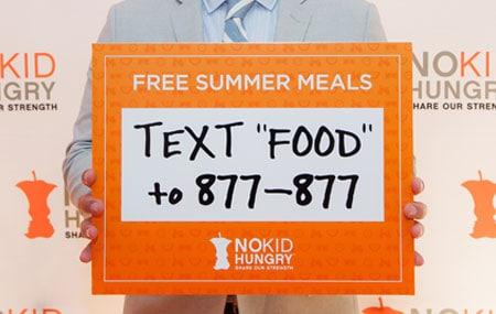 No Kid Hungry Free summer meals Summer-Texting-desktop