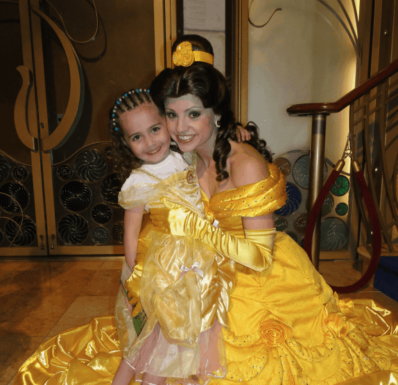 Sofia with Belle