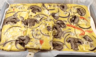 Receta saludable: omelette horneada de vegetales (VIDEO)