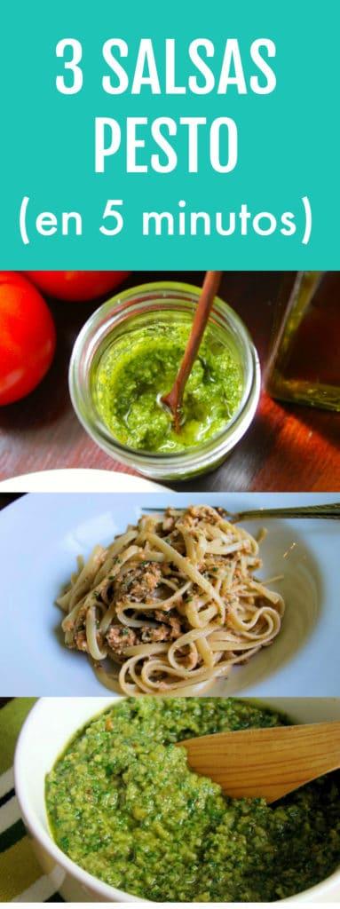 3 recetas de salsa pesto