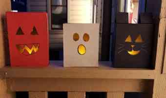 Cómo hacer luminarias para Halloween con cajas de cereales