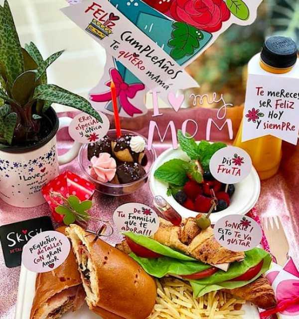 Ideas para un desayuno sorpresa para mamá para el día de las madres