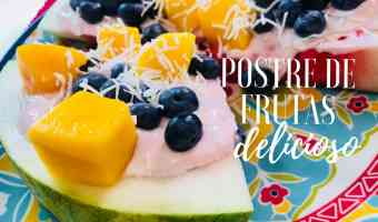 VIDEO: Receta deliciosa y saludable de pizza de frutas