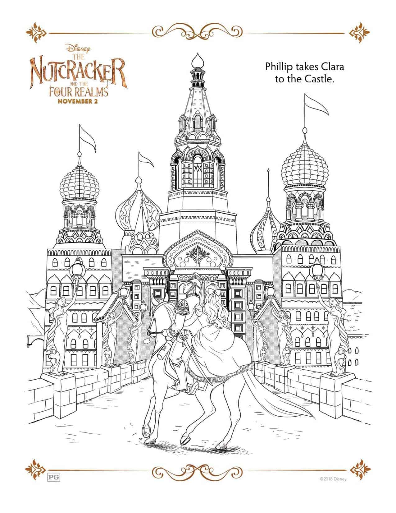 The Nutcracker And The Four Realms Free Coloring Sheets