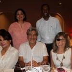 María Claudia Gedeón y Hermes Figueroa, Mayra Rodríguez, Gabriel Rodríguez y Roxana Segovia.