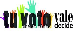 """Logo de la campaña """"Tu voto vale, tu voto decide"""""""