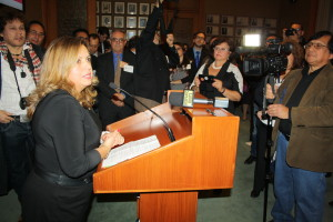 MPP Cristina Martins, durante la Clausura del Mes de la Herencia Hispana 2014