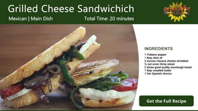 Montezuma's Grilled Cheese Sandwich Recipe Card