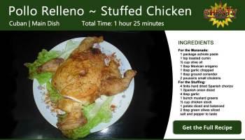 Pollo Relleno ~ Stuffed Chicken Recipe Card