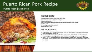 Puerto Rican Pork Recipe