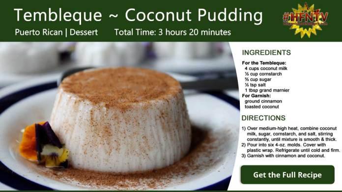 Tembleque ~ Coconut Pudding Recipe Card