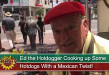 Ed the Hotdogger Cooking up Some Hotdogs With a Mexican Twist!
