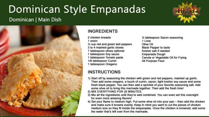 Dominican Style Empanadas