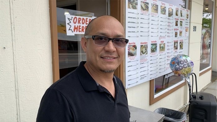Jorge Sanchez, Owner of Johcho's Tacos says the money couldn't have gone to a better person than America Montana