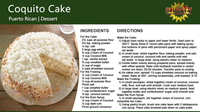 Coquito Cake