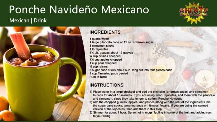 Ponche Navideño Mexicano (Christmas Fruit Punch)