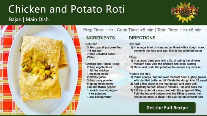 Chicken and Potato Roti