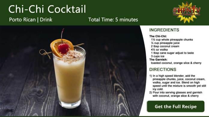 Chi-Chi Cocktail Recipe Card