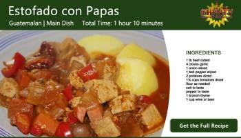 Estofado con Papas ~ Potato Stew Recipe Card