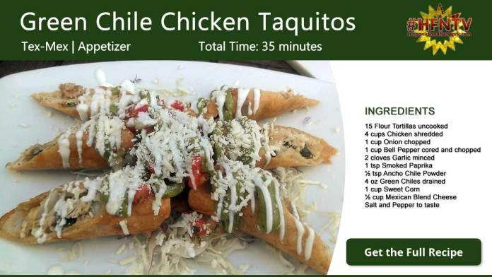 Green Chile Chicken Taquitos