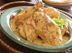 Pollo en Crema ~ Chicken in Cream