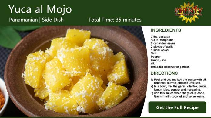 Yuca al Mojo Recipe Card