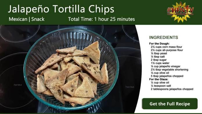 Jalapeño Tortilla Chips Recipe Card