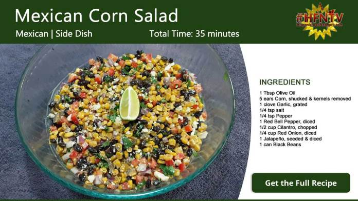 Mexican Corn Salad Recipe Card