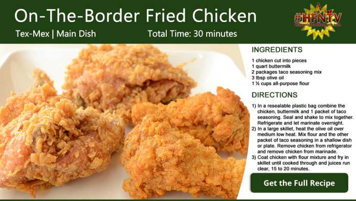 On-The-Border Southern Fried Chicken Recipe Card