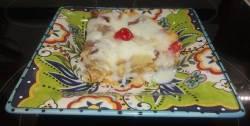 A slice of Pina Colada Bread Pudding