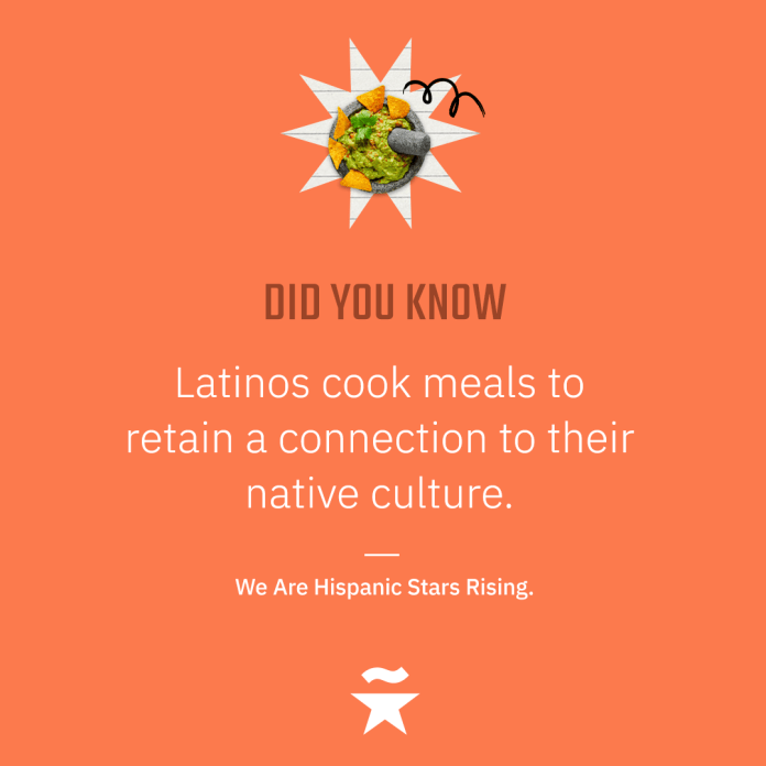 Latinos cook meals to retain a connection to their native culture