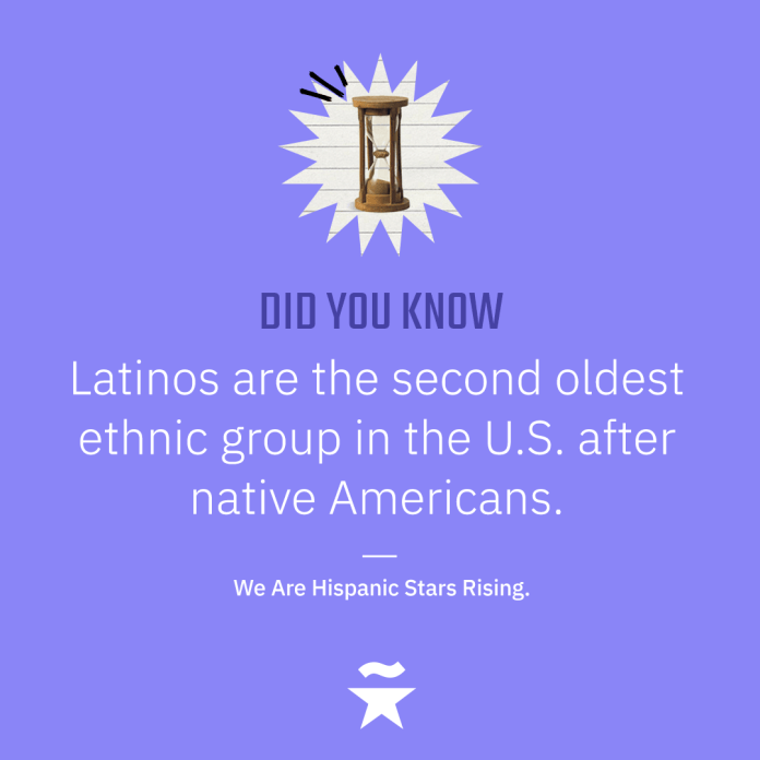 Latinos are the second oldest ethnic group in the U.S. after native Americans