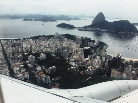 View coming into Santos Dumont