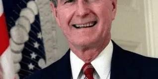 George h.w. bush y un abismo de contrastes con el actual régimen
