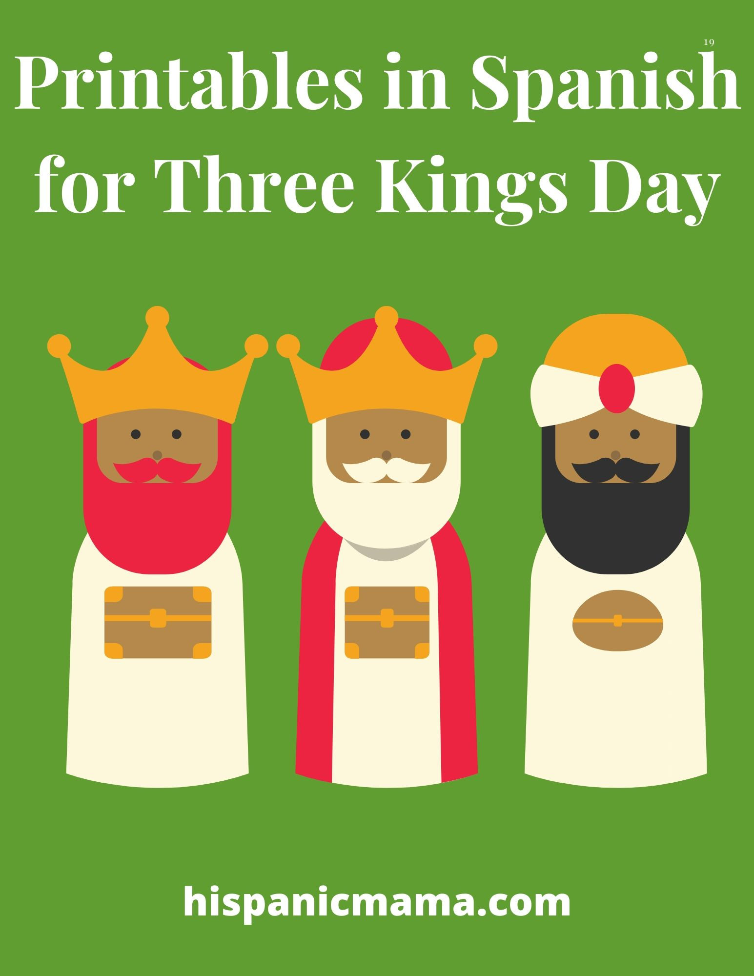 Printables in Spanish for Three Kings Day