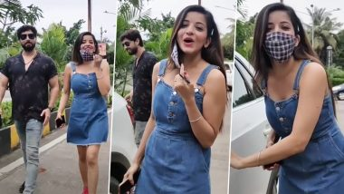 Bhojpuri Actress Monalisa Video: Bhojpuri Actress Monalisa asked Paparaji a funny question, said- how do you reach everywhere, watch this video