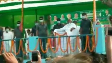Bihar Assembly Elections 2020: Onions thrown at Nitish Kumar during a rally in Madhubani, Bihar, CM Speak- and Throw,