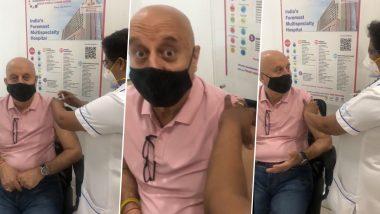 Anupam Kher ने लगवाया कोरोना वैक्सीन का पहला टीका, Video शेयर कर जताई खुशी