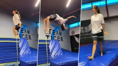 Disha Patani did a flip-flop in a stunning style, video of stunting viral