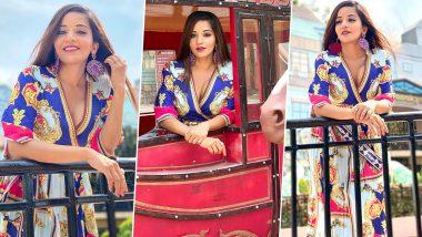 Monalisa Hot Photos: Bhojpuri actress Monalisa wore a very beautiful dress, put hotness in such water