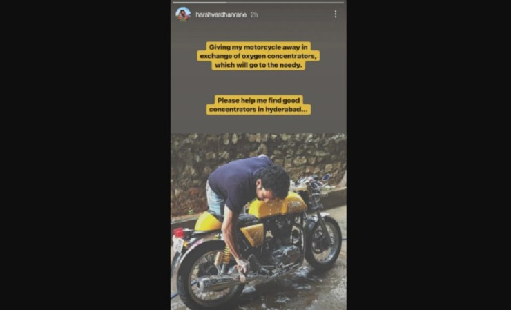 Actor Harshvardhan Rane showed generosity in the hour of crisis, Corona is selling his bike to help patients World Daily News24