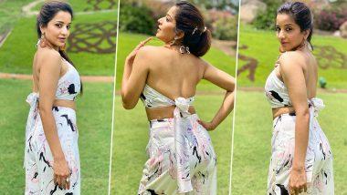 Monalisa Hot Photos: Bhojpuri actress Monalisa wearing a backless dress showed hot style, see photos