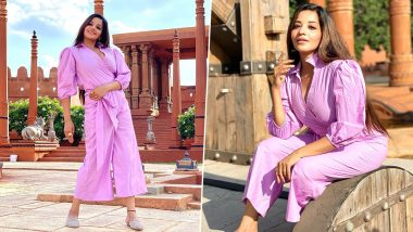 Bhojpuri actress Monalisa posted beautiful photos in a pink dress and told the fans- Good Morning (See Pics)
