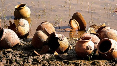 """Broken Pots at Riverbank"" by Kumar's Edit"