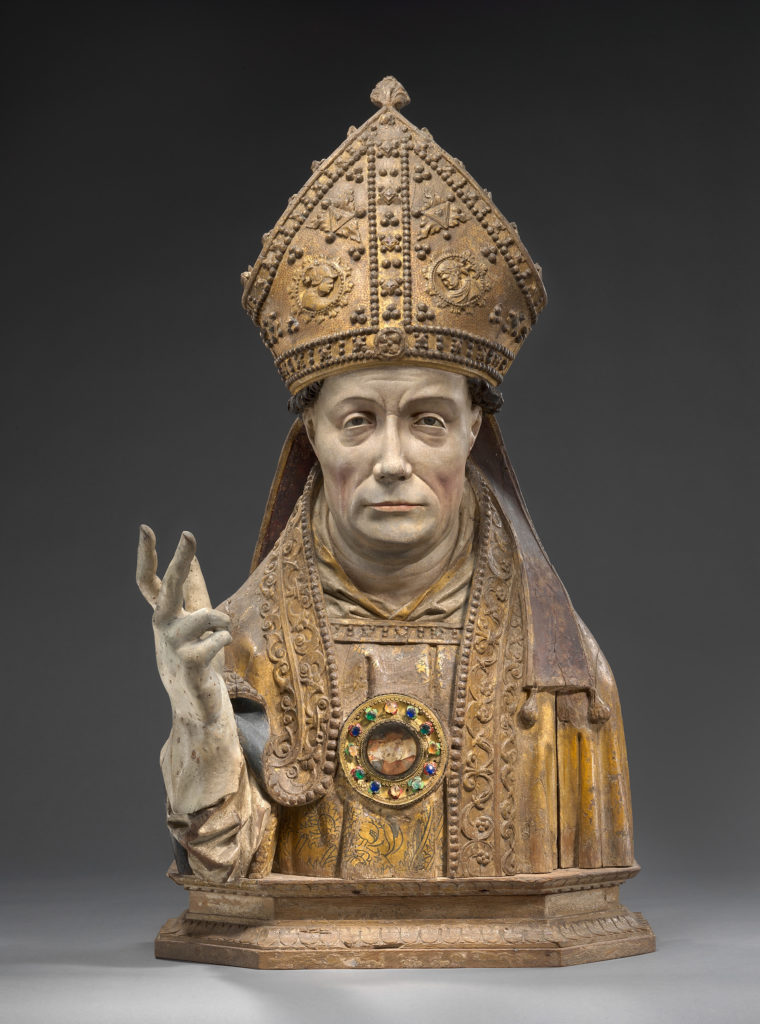 Bishop reliquary figure